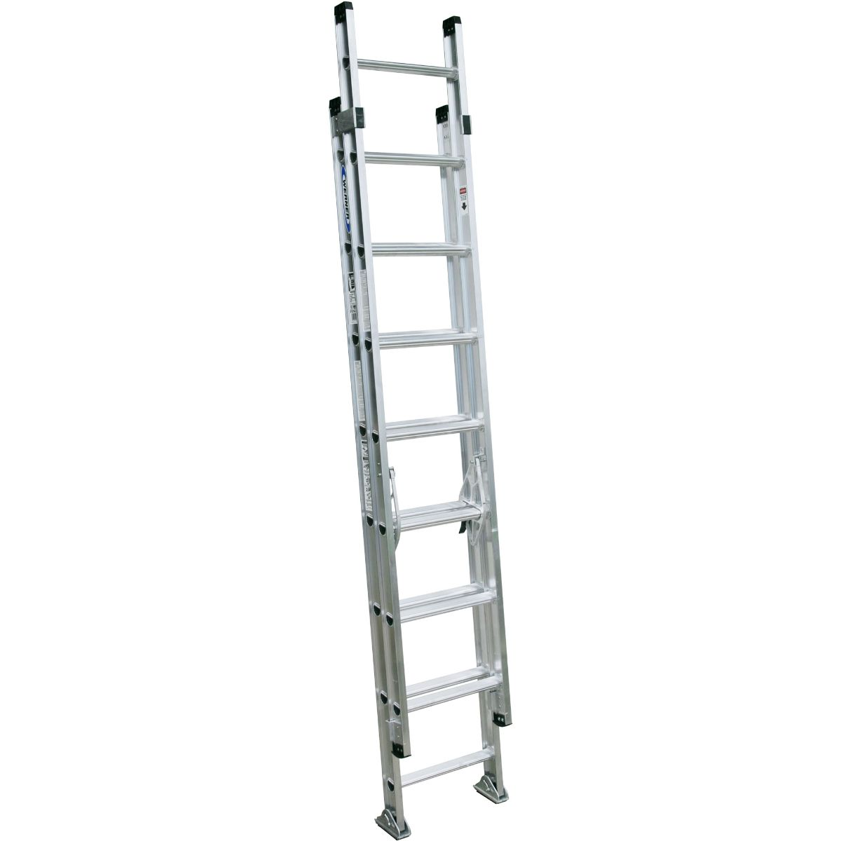 Werner D1500 2 Section Extension Ladder Aluminium