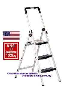 Cosco 3 step stool adjustable handle