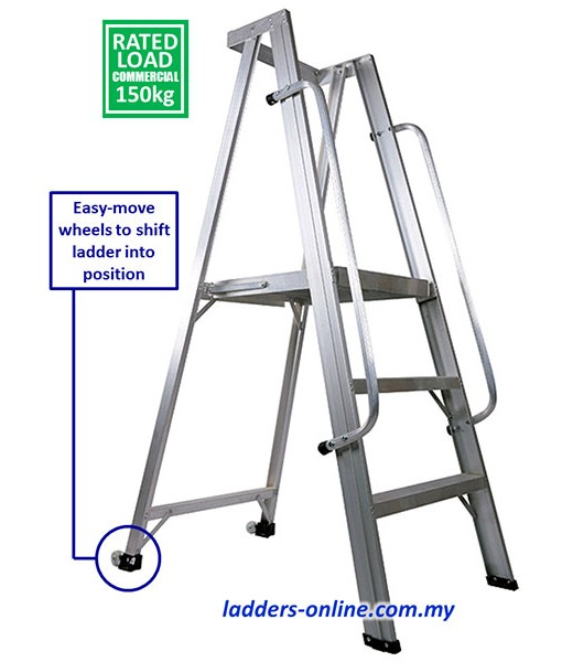 Platfrom Ladder Trolley with Wheels