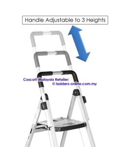 Cosco step stool adjustable handle