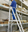 Platform Ladder in Warehouse