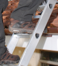 Man Climbing 2 Section Extension Ladder