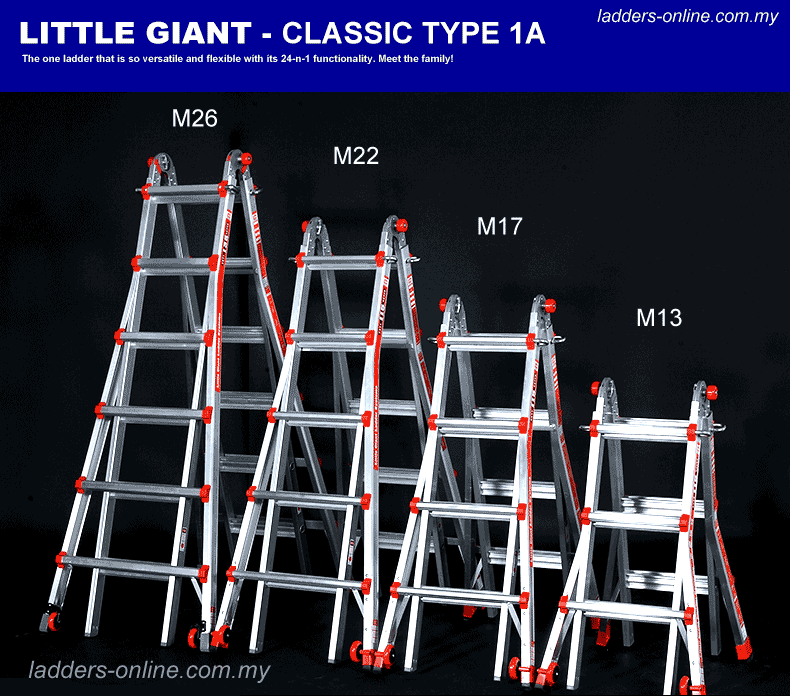 Little Giant Ladder Classic Type 1A family
