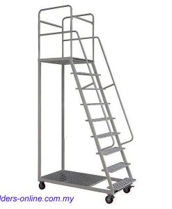 Warehouse Platform Ladder With Wheels 150kg Rating
