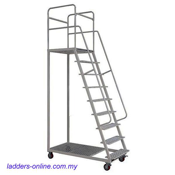 Warehouse Platform Trolley Ladder 150kg Rating