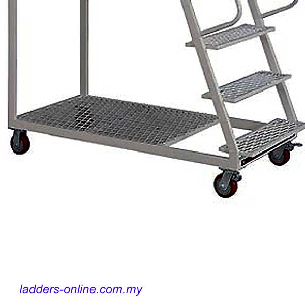 Warehouse Platform Trolley Ladder 150kg Rating