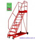 platform trolley ladder industrial grade
