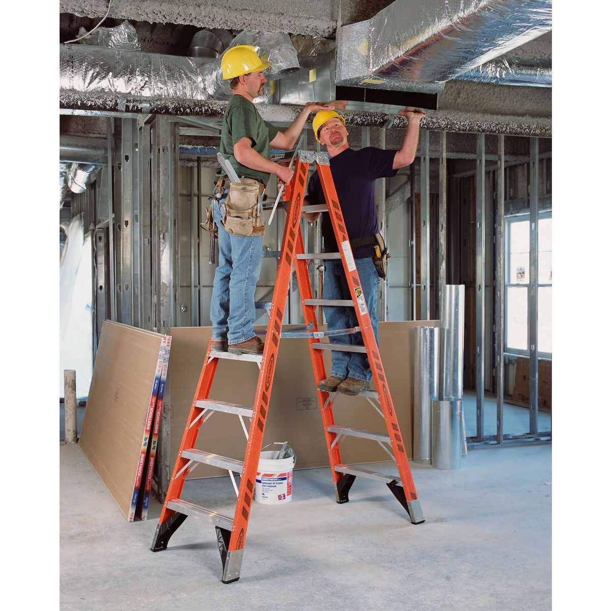 Werner T7400 Twin Stepladder - Fiberglass - Ladders-Online