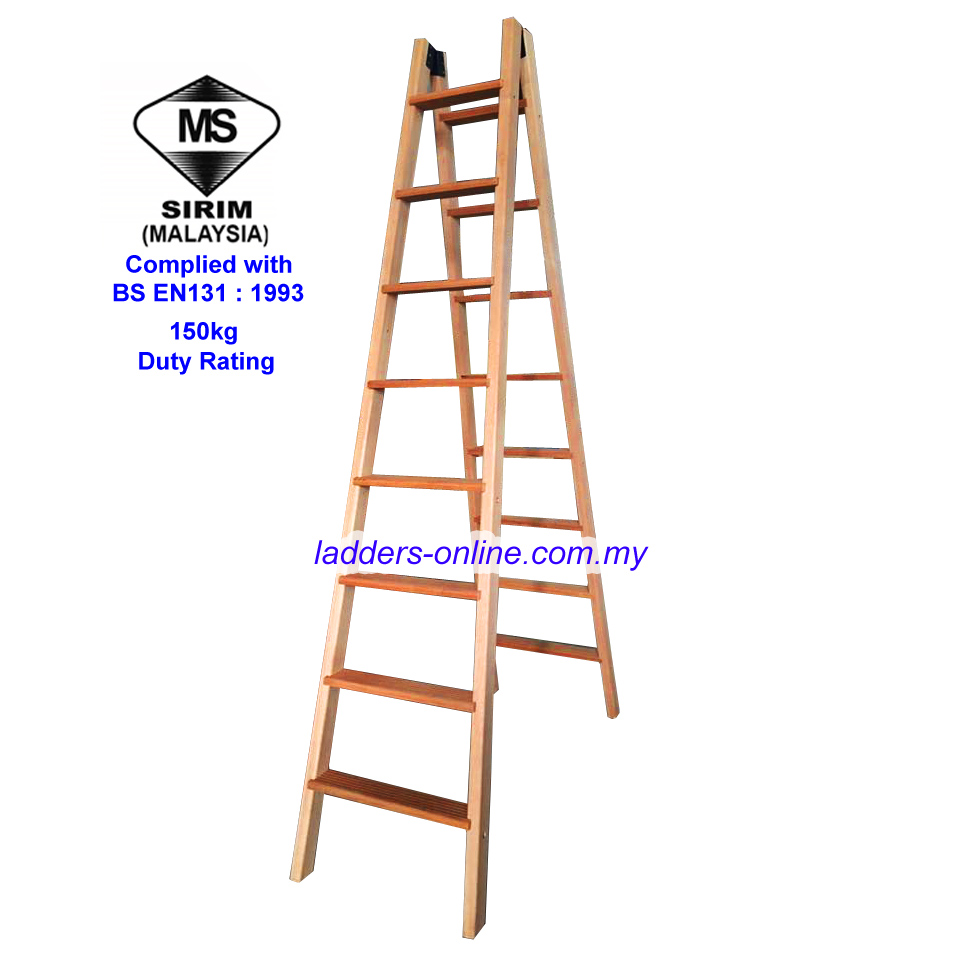 Wooden Ladder Tnb Tangga Kayu Sirim Tested Ladders