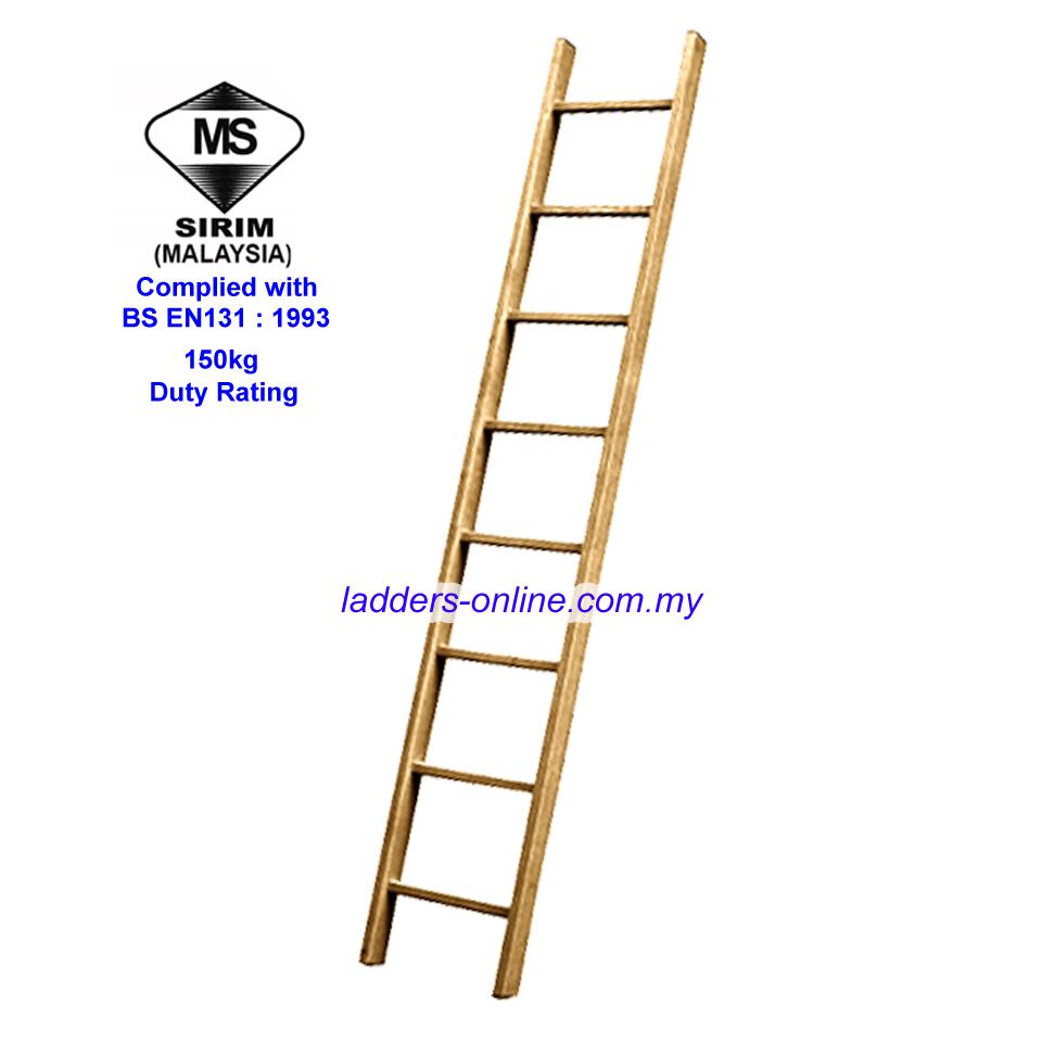 Wooden Ladder Tnb Tangga Kayu Sirim Tested Ladders